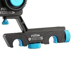 Fotga upgrade DP500IIS Quick Rlease dampen follow focus A/B hard stop for 5DII III 7D D90 DSLR
