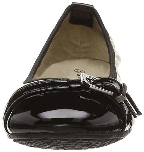 Bout Noir Twists 707 black Shea Fermé Femme Butterfly Ballerines Patent ptYdRwBpqx