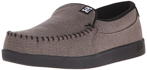 DC Mens Villain TX Slip-On Shoe, Black, 11 M US Grey/Black/Black