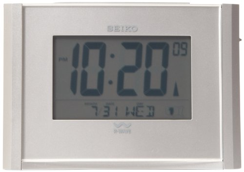 Seiko Advanced Technology Bedside Alarm Get Up and Glow (Seiko Quartz Clock)