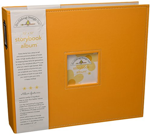- Doodlebug Design Storybook for Scrapbooking Album, 12 by 12-Inch, Tangerine