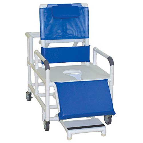 - MJM International 196-26-BAR Bariatric Reclining Shower Chair, 26