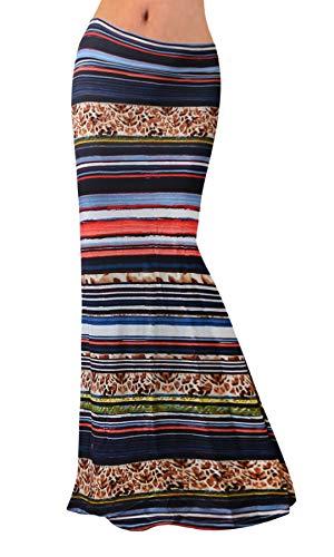 (Women Fashion Tie Dye High Waisted Beach Maxi Skirts Long Skirt Christmas Gift(Purple), L)
