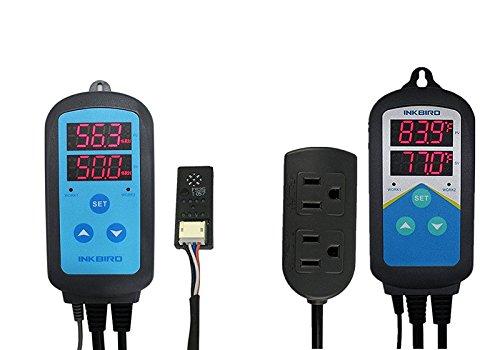 Inkbird Combination Humidity Controller IHC200 + Temperature Controller ITC308, ITC306T, ITC310T (IHC-200 + ITC-306T)