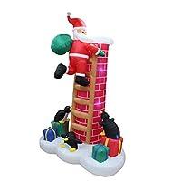 8.5 pies inflables Santa Claus escalada chimenea con observación de pingüinos