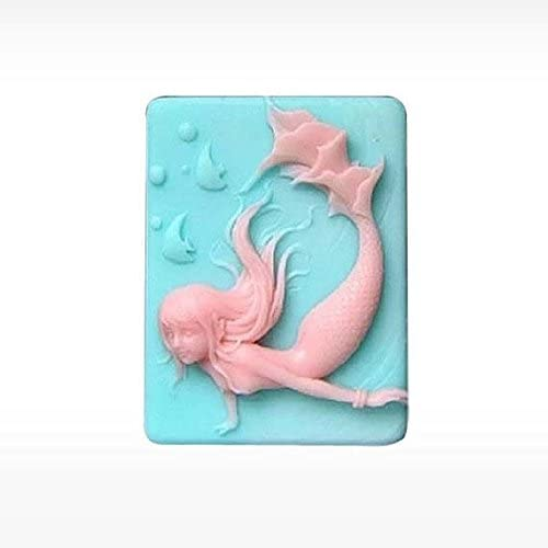 Mermaid Silicone Mold Soap DIY Craft Mould Molds Mould Craft Art Candle Mold.