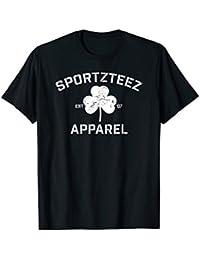 Official SportzTeez Apparel Shamrock Distressed Irish Shirt