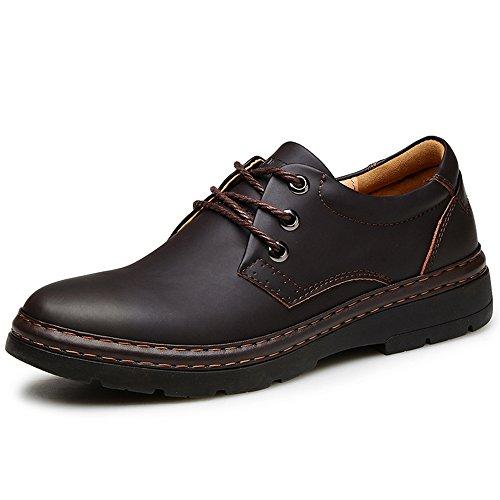 Mens Oxfords Schoenen Alledaags Leer Vetvrije Schoenen Casual Schoenen Klassieke Zachte Rubberen Zool Oxfords Zwart
