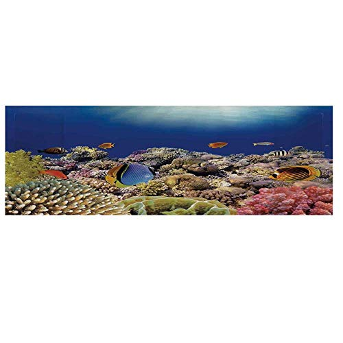 Ocean Microwave Oven Cover with 2 Storage Bag,Wild Sea Life Colorful Ancient Coral Reefs Exotic Fishes Bali Indonesia Cover for Kitchen,36