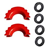 """Ymiss 2 Pcs Shackle Isolater and 4 Pcs Washers for 3/4""""D-Ring Shackle Protection Cover Kit-Red Color"""