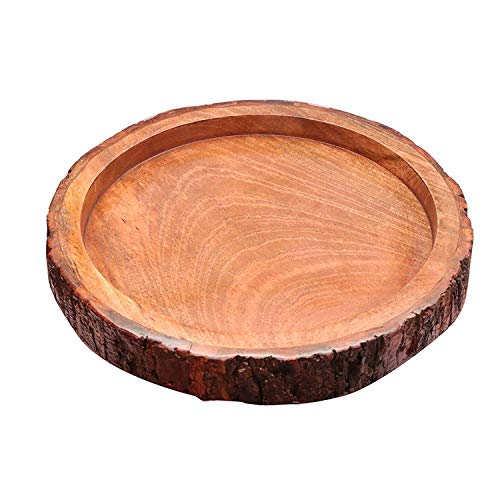 Its Trending Wood handcrafts Beautiful Table Decor Round Shape Wooden Serving Tray/Platter for Home and Kitchen Price & Reviews