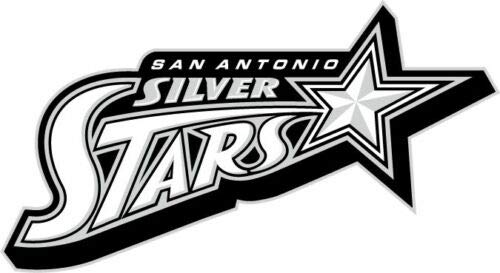 (Craftmag San Antonio Silver Stars WNBA Vinyl Sticker Decal Outside Inside Using for Laptops Water Bottles Cars Trucks Bumpers Walls, 6