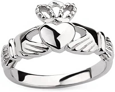 Women's Claddagh Ring Love Heart Celtic Knot Crown Engagement Wedding Band