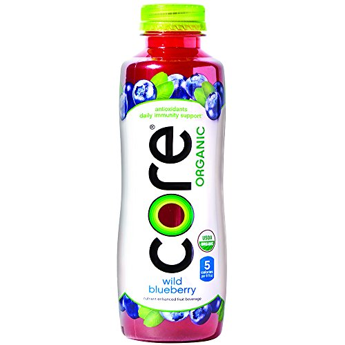 (CORE Organic, Blueberry, 18 Fl Oz (Pack of 12), Fruit Infused Beverage, Vegan/Gluten-Free, Non-GMO, Refreshing Flavored Water with Antioxidants, Great For Immunity Support)