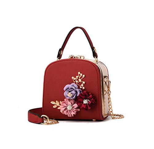 Donna Messenger Lmpermeabile Lavoro Spalla Xiuy Unicolor Red Tracolla Metallo A Classici Cinghia Borse Mano Fashion Secchiello Personalizzati Da Floreale ZxTwdx
