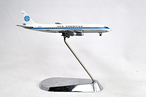 GeminiJets Pan American World Airways Douglas DC-8-32 Diecast Airplane Model Jet Clipper Great Republic N809PA With Stand 1:400 Scale Part# GJPAA1337
