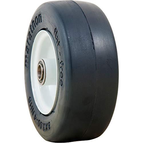 Marathon Tires Flat-Free Lawn Mower Tire - 3/4in. Bore, 8 x 3.00-4in.