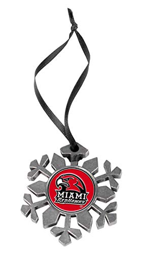 LinksWalker NCAA Miami Univ. Redhawks - Snow Flake Ornament]()