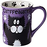 "Our Name is Mud ""Catffeine"" Stoneware Mug, 16 oz."
