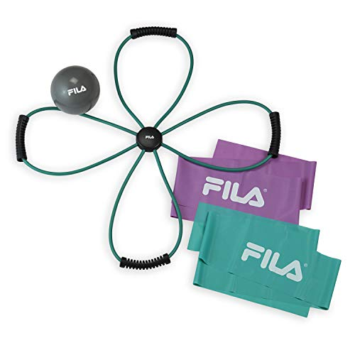 FILA Accessories Tone & Fit Exercise Pilates Kit (Core Reformer, Body Sculpting Ball and Flat Resistance Bands) -  Fit For Life, 08-63266