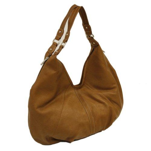 Piel Leather Large Hobo, Saddle, One Size
