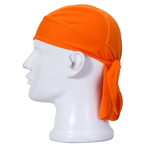 Aiyuda Multipurpose Quick Dry Breathable Sweatband Head Wraps Cycling Running Cap Pirate Hat Orange