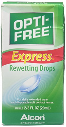 Lens Contact Order (Opti-Free Express Rewetting Drops, .66-Ounce)