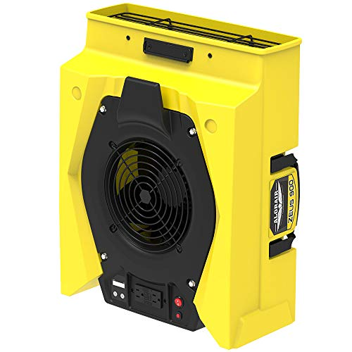 20' Commercial Floor Fan - AlorAir Zeus 900 Air Mover Commercial Blower for Carpets, Walls, Plumbing Use, Variable Speed Floor Blower Fan, 950 CFM with 1.8 Amps,Circuit Breaker Protection,on-Board Duplex GFCI