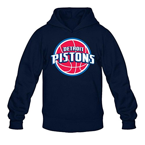 Det Pistons - ZHENGXING Men's Detroit Pistons NBA DET Logo Hooded Sweatshirt L Royal Blue