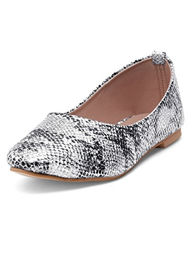 21ae6cd8d Nell Women Silver Flat Shoes: Buy Online at Low Prices in India ...
