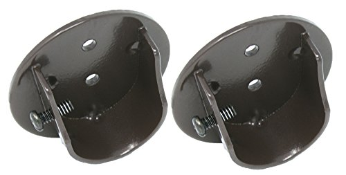 Urbanest Set of 2 Inside Mount Brackets for 1 1/8-inch to 1 1/4-inch Curtain Rods, - End Mount