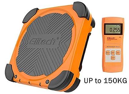 Elitech LMC-210A 150KG Báscula Electrónica Refrigerante para HVAC, Escala de Recuperación de Peso de Carga Electrónica de Refrigerante ...