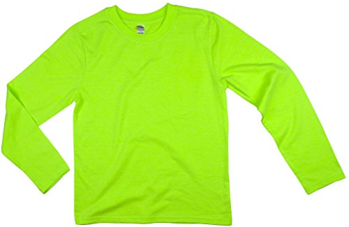 Earth Elements Big Kid's (Youth) Long Sleeve T-Shirt Small Neon Green
