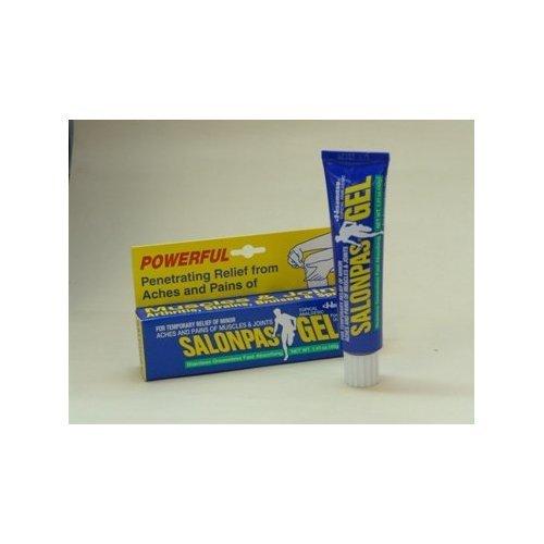 Salonpas Gel - Analgésique topique (1,41 oz -. 40g) - 3 tubes
