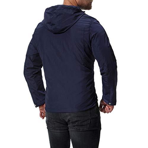 2 Thick Overcoat Hooded Coats Jacket Solid Energy Mens Zip Oversize zxA7nHpq
