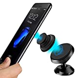 Easy Universal Magnet Mount for Pop Socket, Smartphones, Androids & iPhones with or Without Popsockets Pop Out Expanding Grip - Dash or Console Adhesive Sticky Mount Easy On & Off Magnet Design.