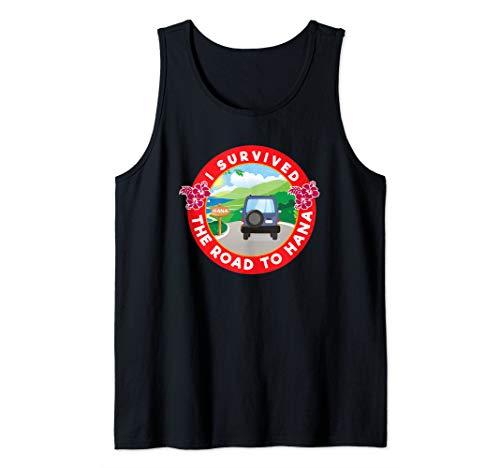 Maui T-shirt Tank Top - I Survived Road To Hana Maui Hiking Hawaii Tank Top