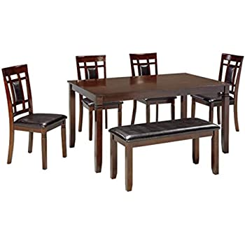 9716af7111 Ashley Furniture Signature Design - Bennox Dining Room Table and Chairs  with Bench (Set of