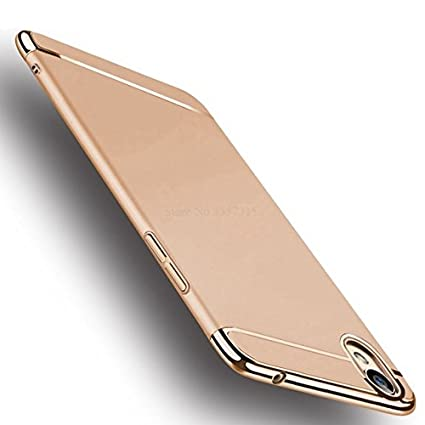 quality design 07bd4 15322 SPL New Chrome 3IN1 Luxury Full body Protective Back cover for OPPO A37f  (Gold)