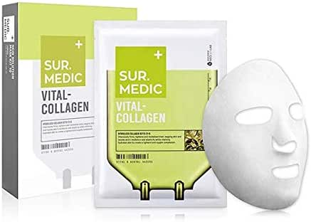 SUR.MEDIC VITAL-COLLAGEN MASK - 1 BOX OF 10 SHEETS 8 oz / 230g