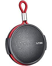 VTIN SoundHot Q1 Tragbare Lautsprecher Dusche, 8W Bluetooth Lautsprecher Musikbox mit lautem HD-Sound, 10H Playtime Dusch Lautsprecher mit Saugnapf, eingebautem Mikrofon, Unterstützung für TF-Karte