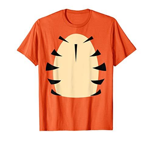 Tiger Halloween Costume Tshirt For Kid Adult Orange -