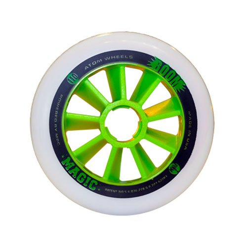 Atom Skates Boom Magic 90mm Inline Skate Wheels - 8 Pack - 90mm/Xfirm by Atom Skates