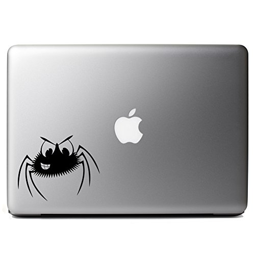 Smiling Spider Cartoon Funny Halloween Vinyl Sticker Laptop iPhone Cell Decal ()