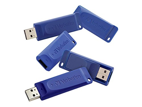 Verbatim 8GB USB Flash Drive, Blue  5 Pack 99121