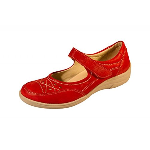 Astwood E Mary Depth Shoes Wide Nubuck Women's Fitting V Leather Easy With Extra Red Jane DB EEE 7wtUtE