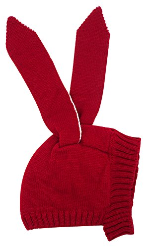 Toddler Baby Kids Girl Boy Cute Rabbit Ear Hat Winte Beanie Cap, Red