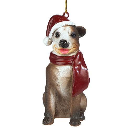 Design Toscano Christmas Ornaments - Xmas Pitbull Holiday Dog Ornaments ()