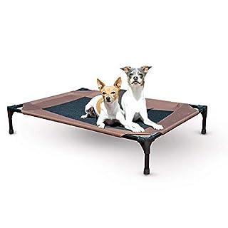 "K&H PET PRODUCTS Original Dog Cot, Chocolate/Mesh, Large/30"" x 42"" x 7"""