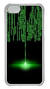 Customized Case Matrix PC Transparent for Apple iPhone 5C
